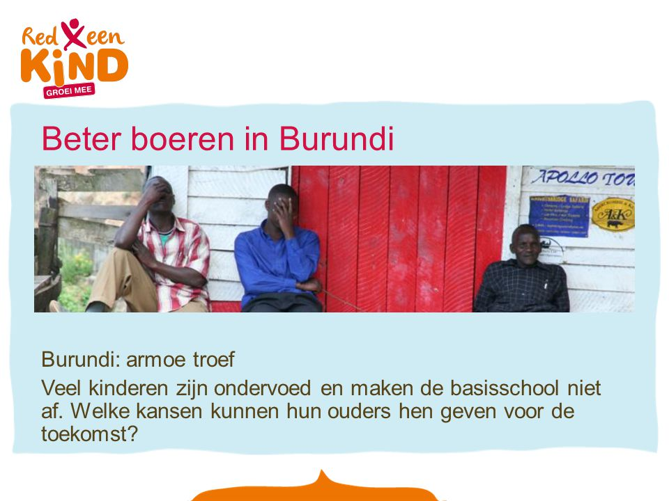 Beter boeren in Burundi