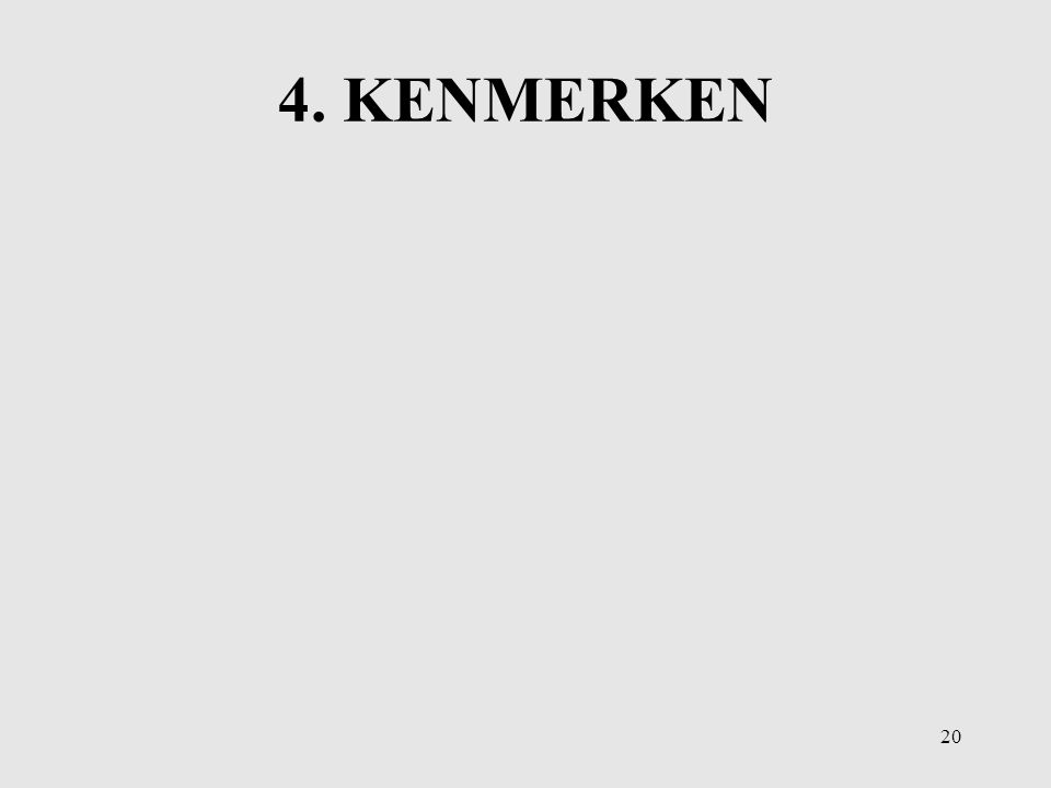 4. KENMERKEN