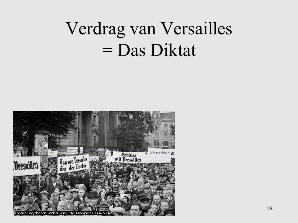 Verdrag van Versailles = Das Diktat
