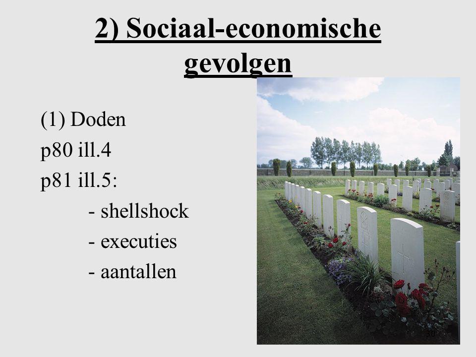 2) Sociaal-economische gevolgen