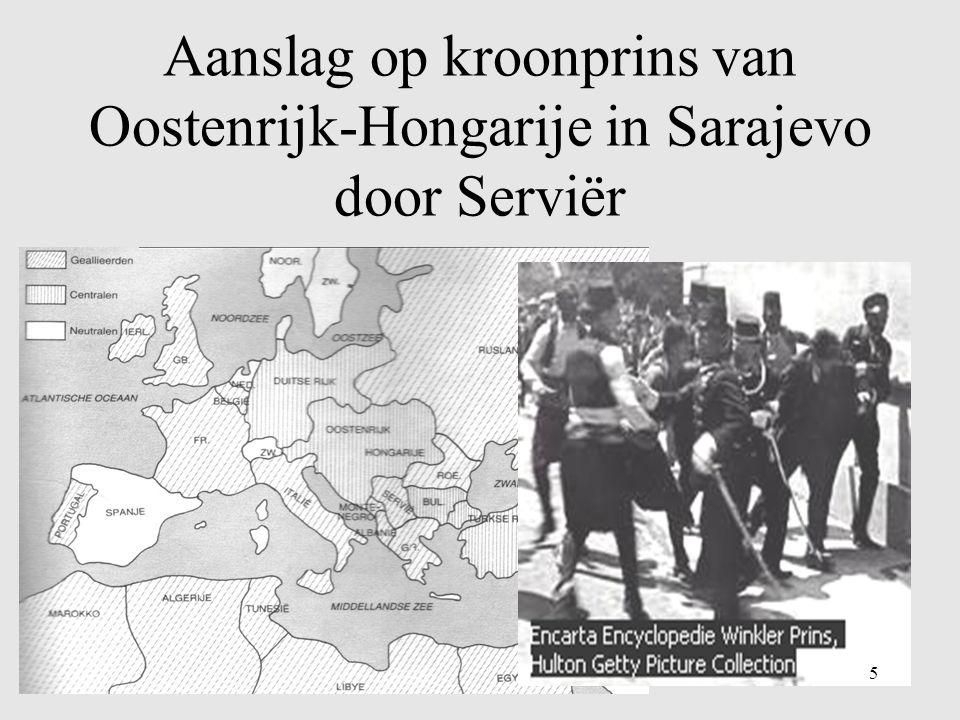 Aanslag op kroonprins van Oostenrijk-Hongarije in Sarajevo door Serviër