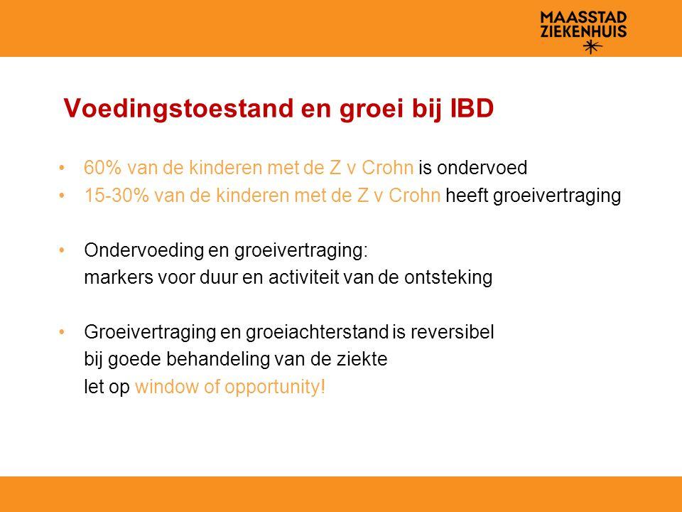 Voedingstoestand en groei bij IBD