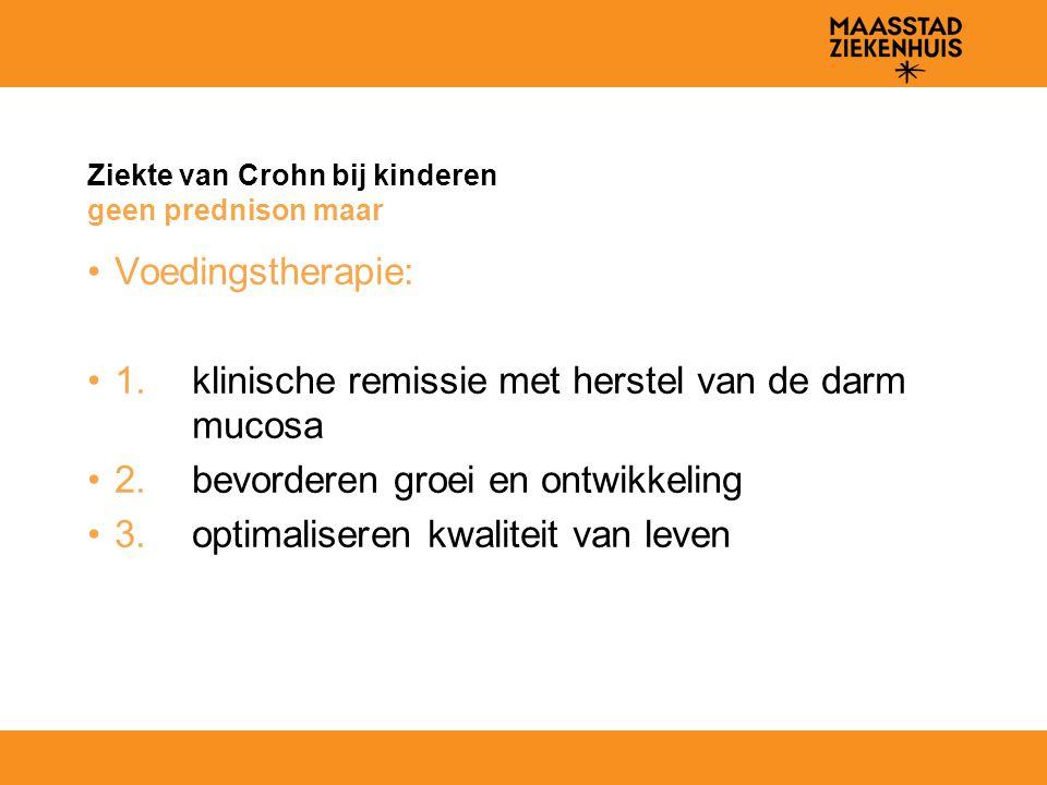 Ziekte van Crohn bij kinderen geen prednison maar
