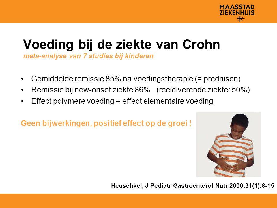Voeding bij de ziekte van Crohn meta-analyse van 7 studies bij kinderen