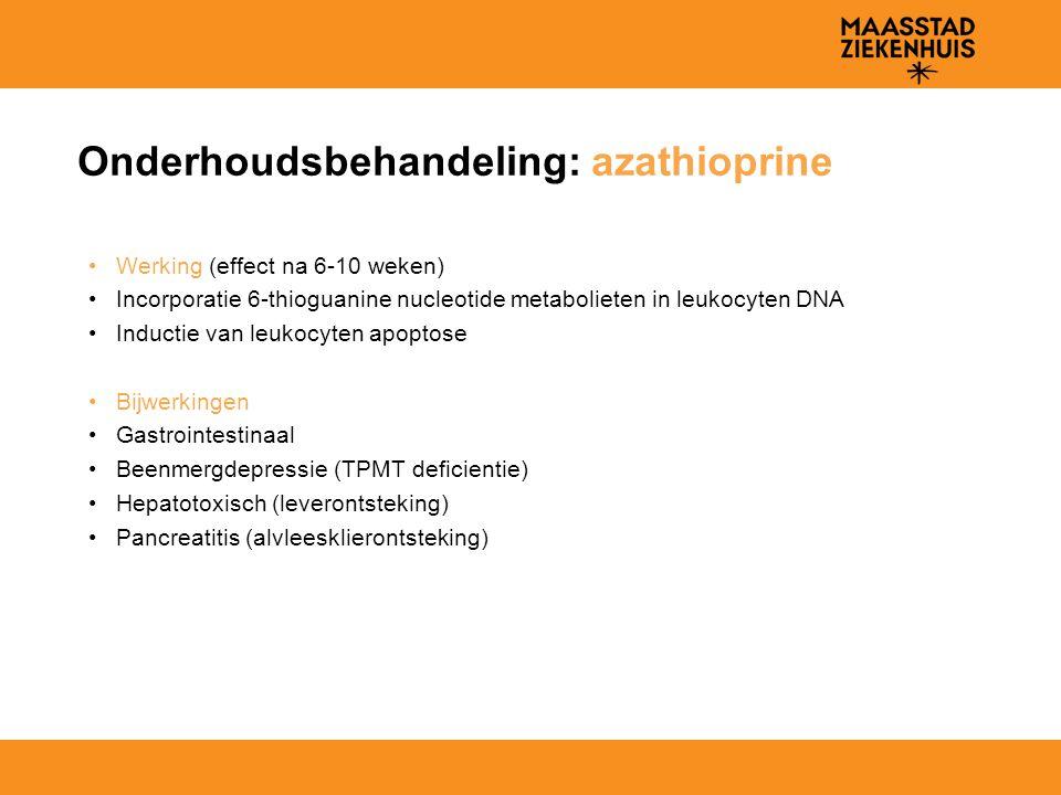 Onderhoudsbehandeling: azathioprine