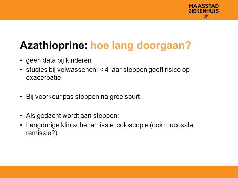 Azathioprine: hoe lang doorgaan