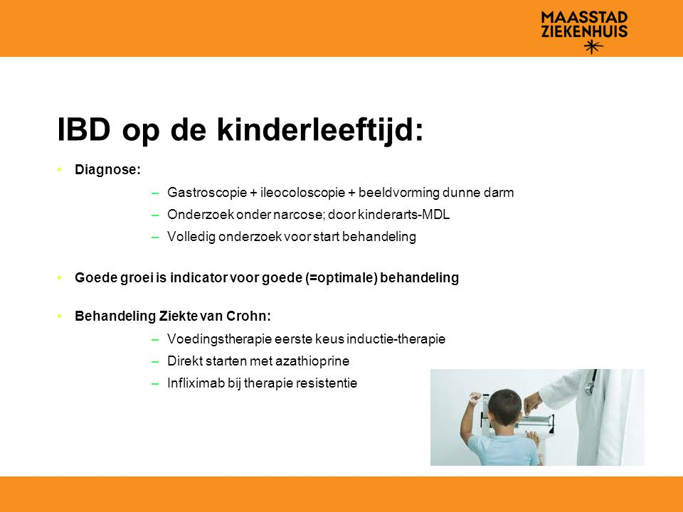 IBD op de kinderleeftijd: