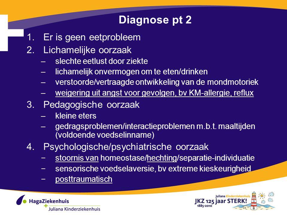 Diagnose pt 2 Er is geen eetprobleem Lichamelijke oorzaak