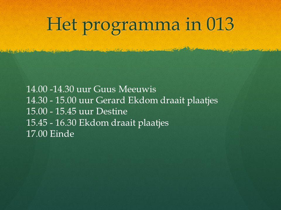 Het programma in 013