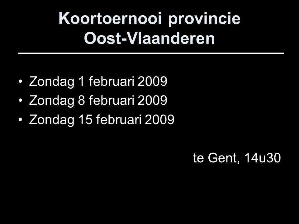 Koortoernooi provincie Oost-Vlaanderen