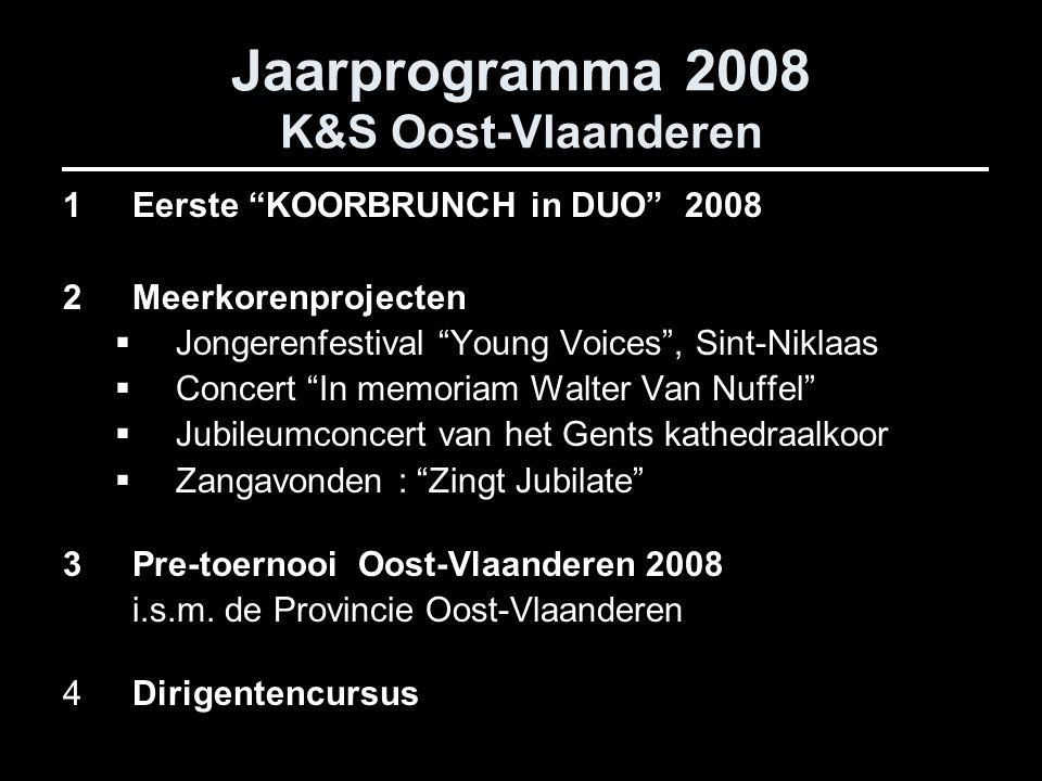 Jaarprogramma 2008 K&S Oost-Vlaanderen