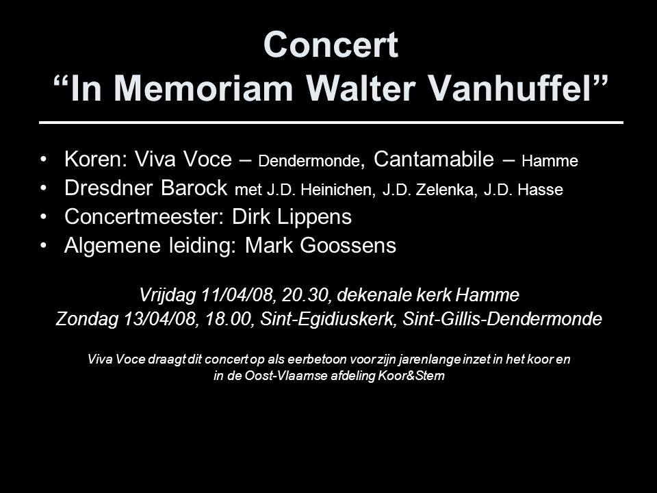Concert In Memoriam Walter Vanhuffel