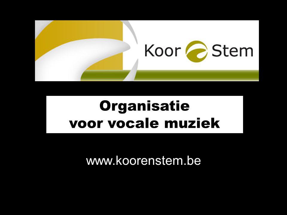 Organisatie voor vocale muziek www.koorenstem.be