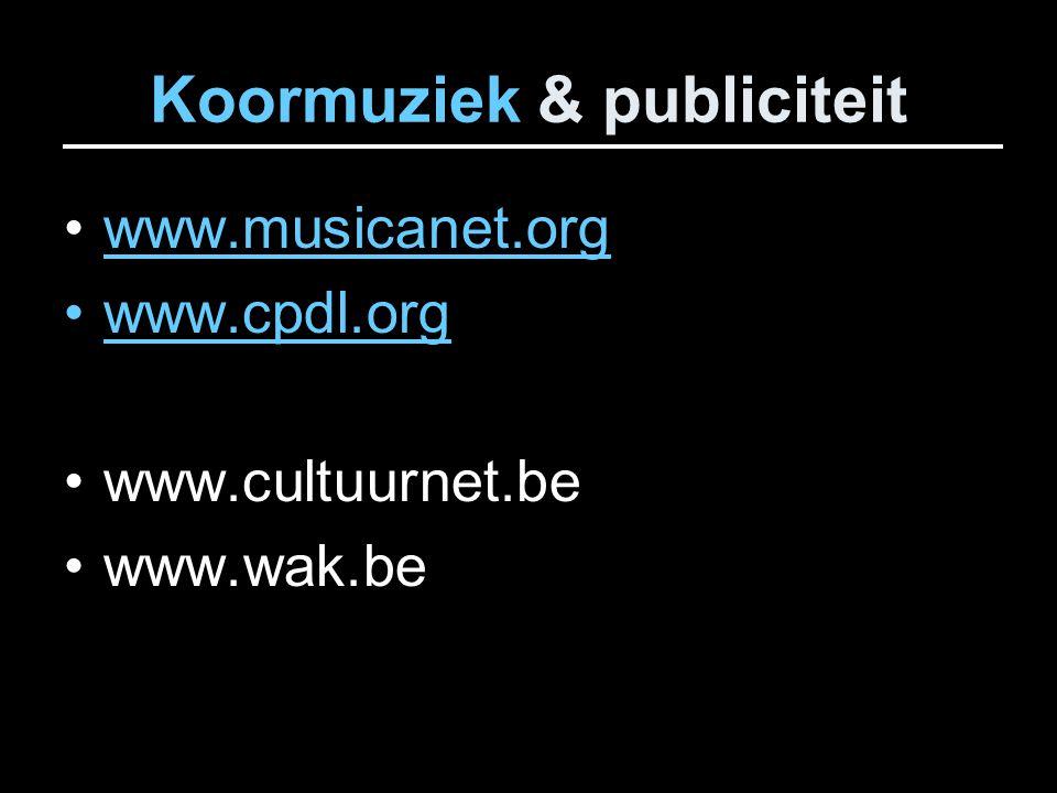 Koormuziek & publiciteit