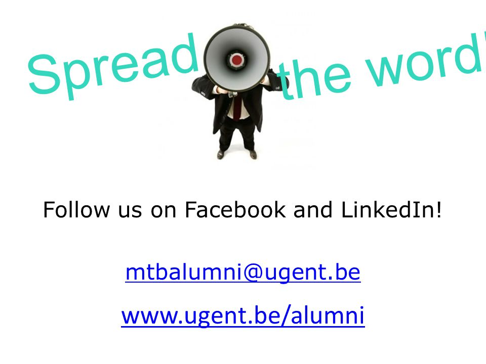 Follow us on Facebook and LinkedIn!