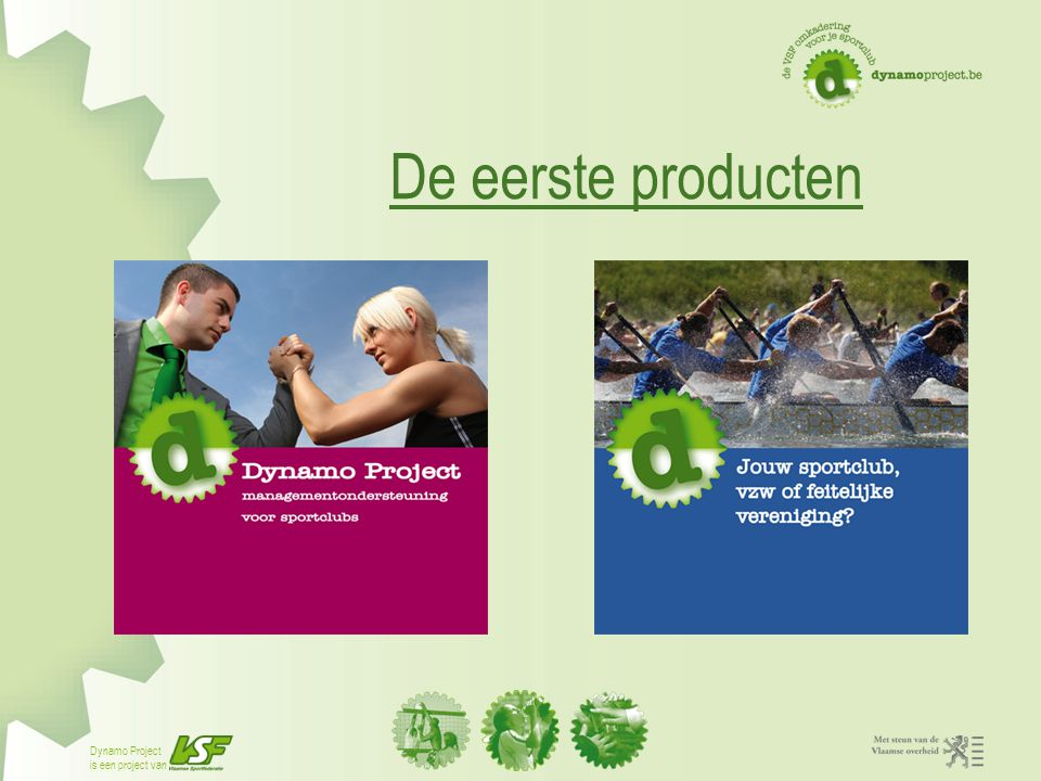 De eerste producten Notities