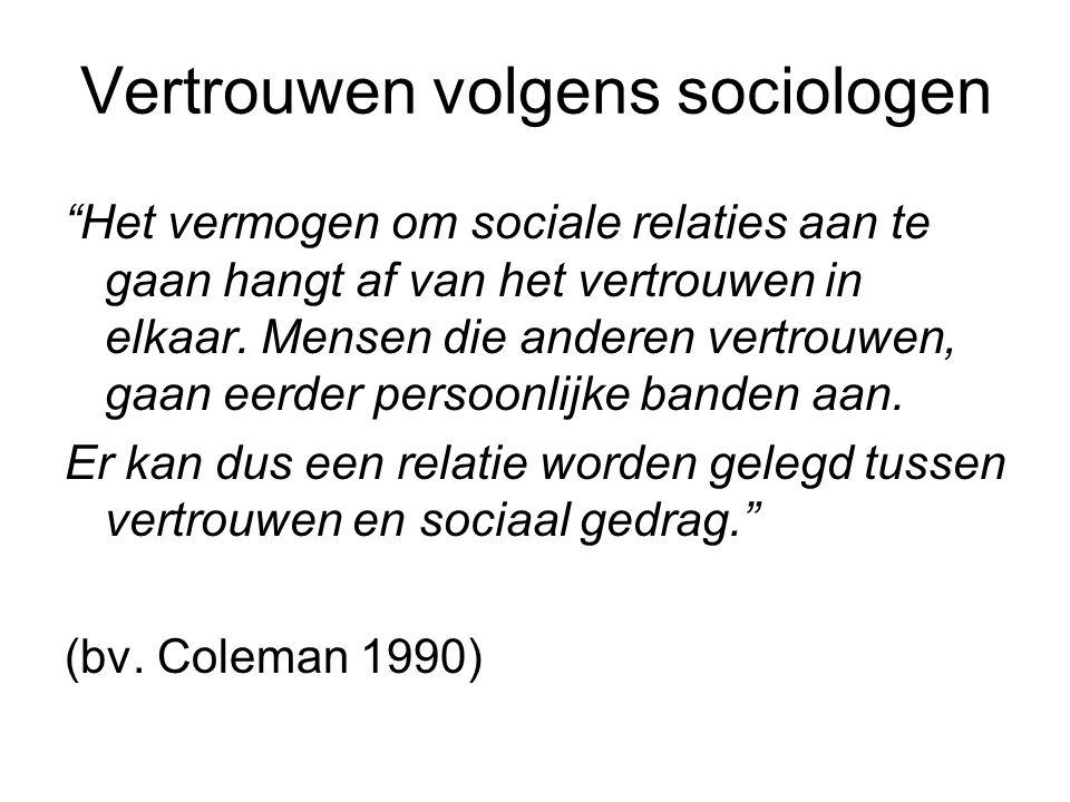 Vertrouwen volgens sociologen