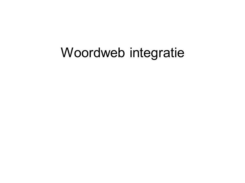 Woordweb integratie