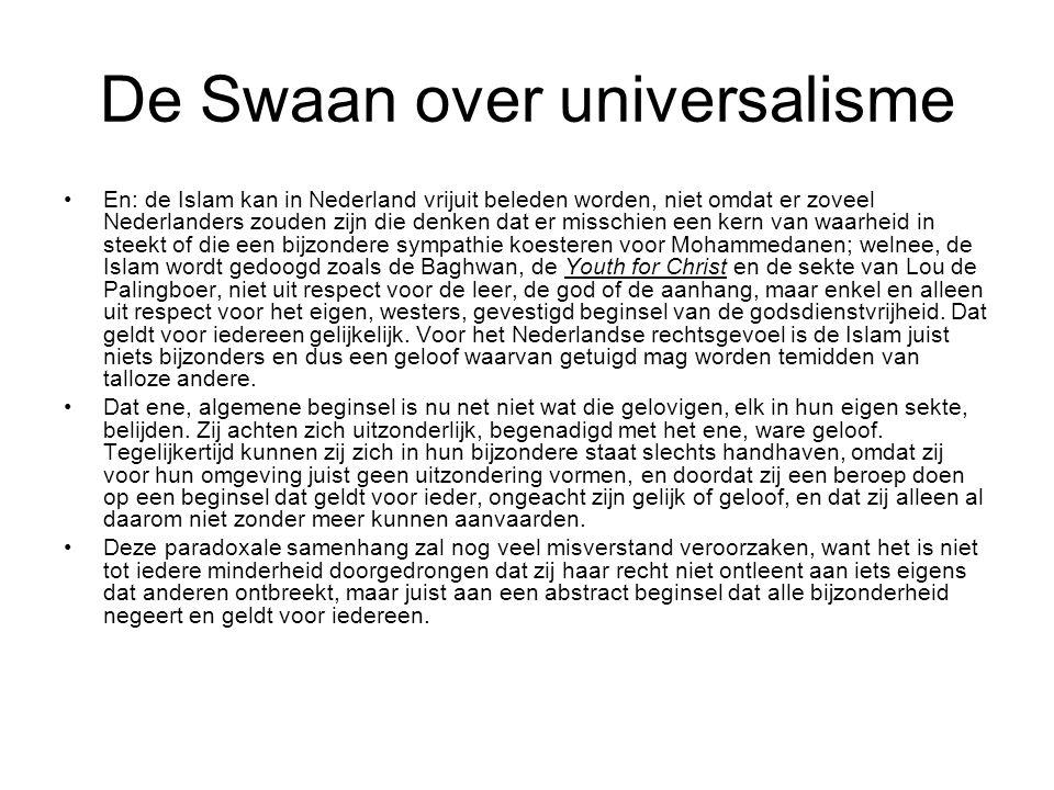De Swaan over universalisme