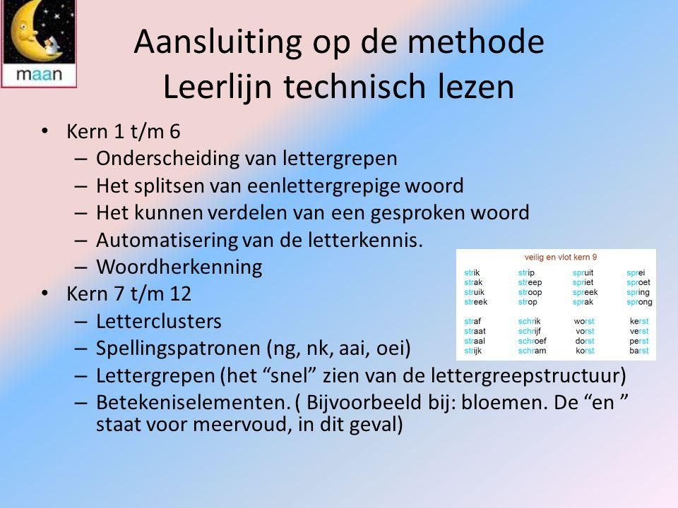 Aansluiting op de methode Leerlijn technisch lezen
