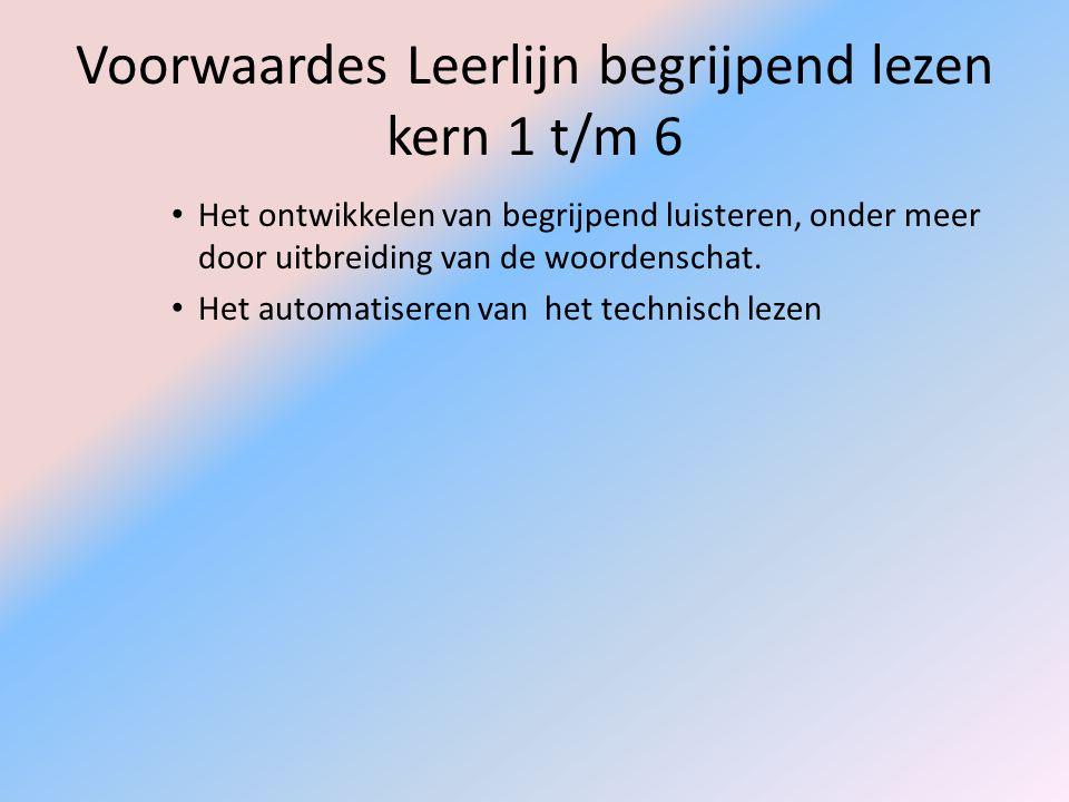 Voorwaardes Leerlijn begrijpend lezen kern 1 t/m 6