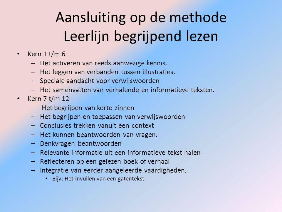 Aansluiting op de methode Leerlijn begrijpend lezen