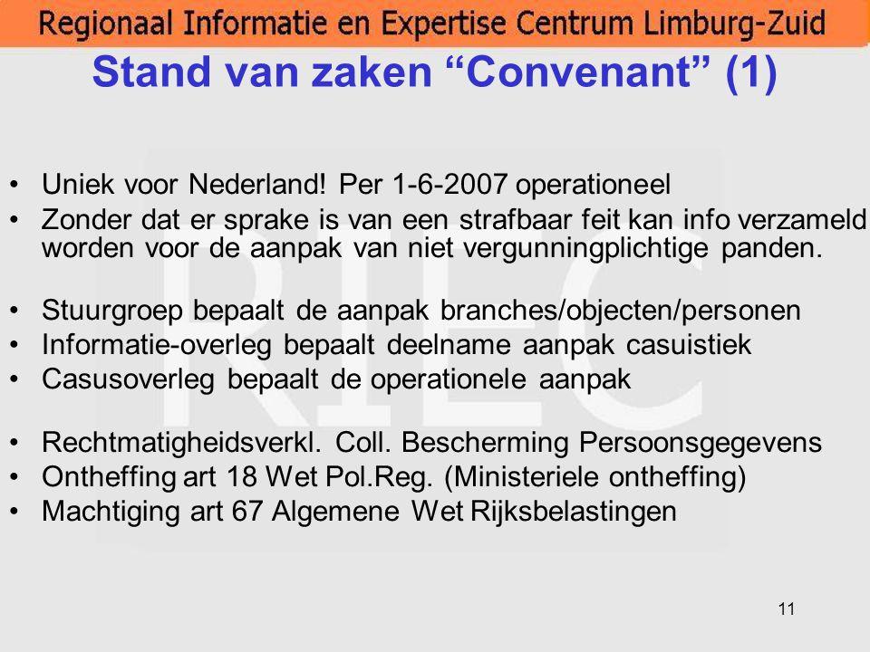 Stand van zaken Convenant (1)
