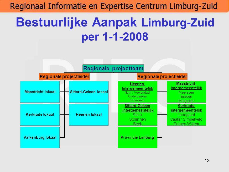 Bestuurlijke Aanpak Limburg-Zuid per 1-1-2008