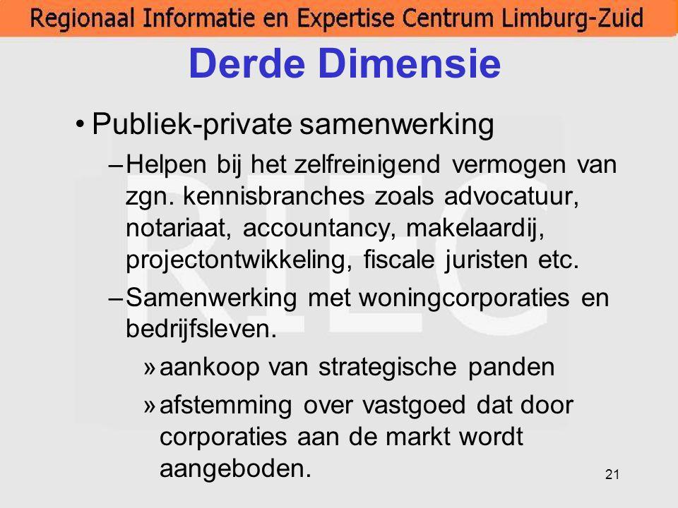 Derde Dimensie Publiek-private samenwerking