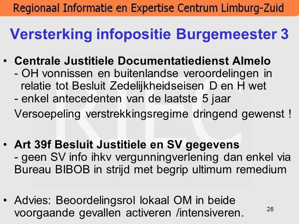 Versterking infopositie Burgemeester 3