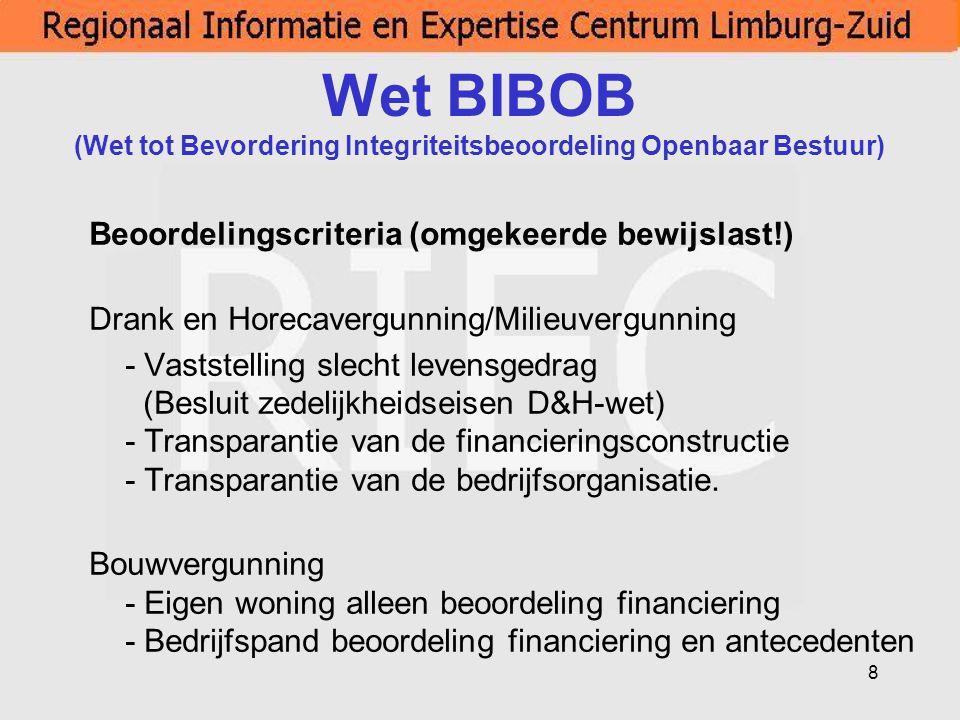 Wet BIBOB (Wet tot Bevordering Integriteitsbeoordeling Openbaar Bestuur)