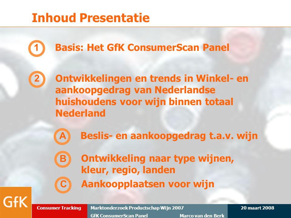 Inhoud Presentatie 1 Basis: Het GfK ConsumerScan Panel 2