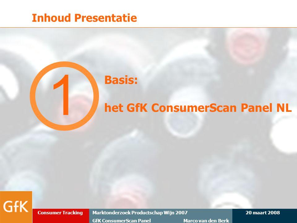 Inhoud Presentatie 1 Basis: het GfK ConsumerScan Panel NL