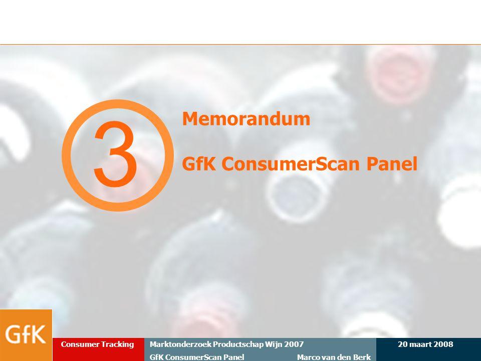 Memorandum GfK ConsumerScan Panel
