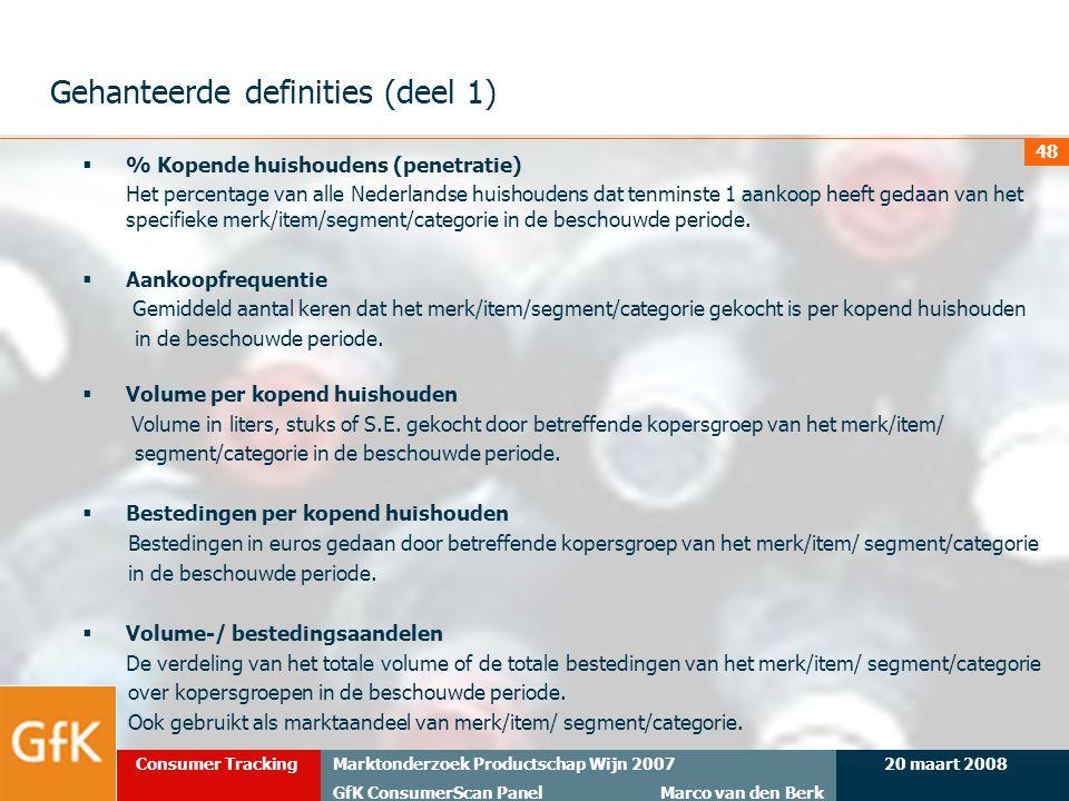 Gehanteerde definities (deel 1)
