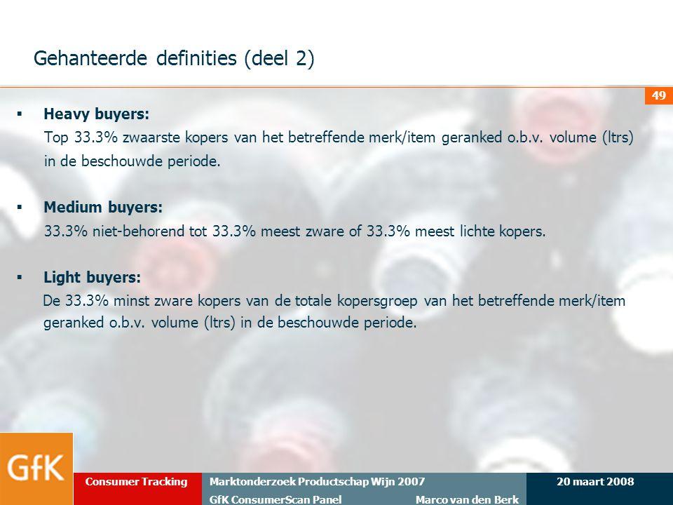 Gehanteerde definities (deel 2)