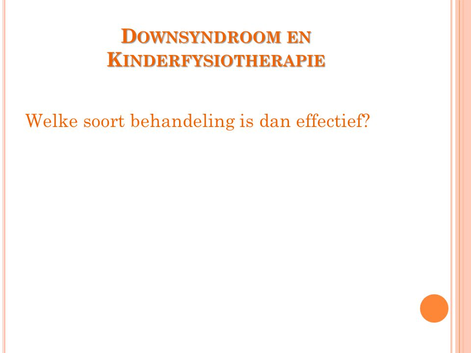 Downsyndroom en Kinderfysiotherapie