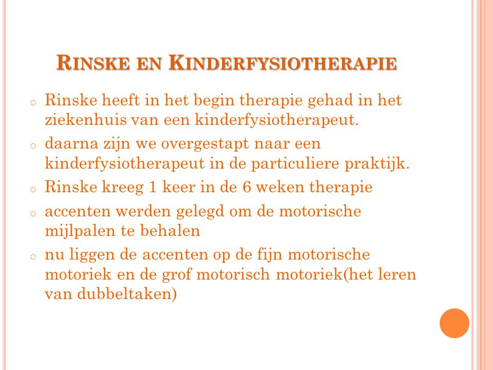 Rinske en Kinderfysiotherapie