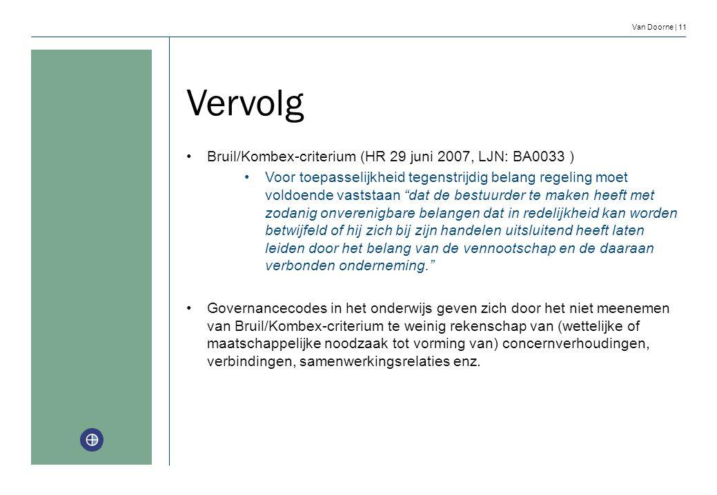 Vervolg Bruil/Kombex-criterium (HR 29 juni 2007, LJN: BA0033 )