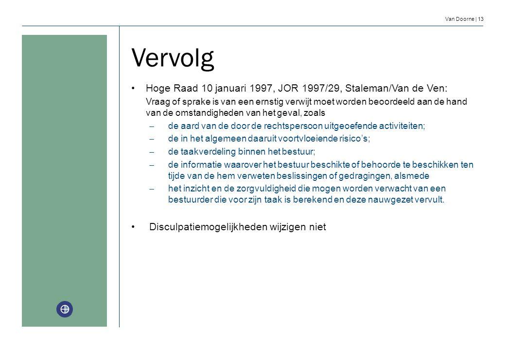 Vervolg Hoge Raad 10 januari 1997, JOR 1997/29, Staleman/Van de Ven: