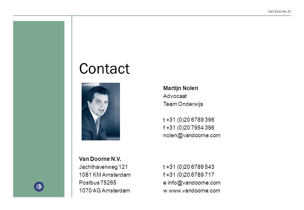Contact Martijn Nolen Advocaat Team Onderwijs t +31 (0)20 6789 396