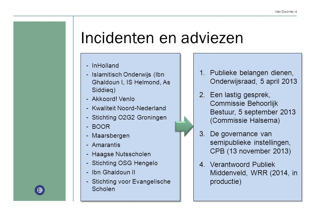 Incidenten en adviezen