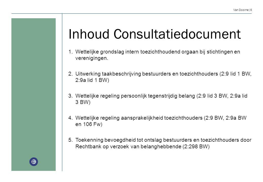 Inhoud Consultatiedocument