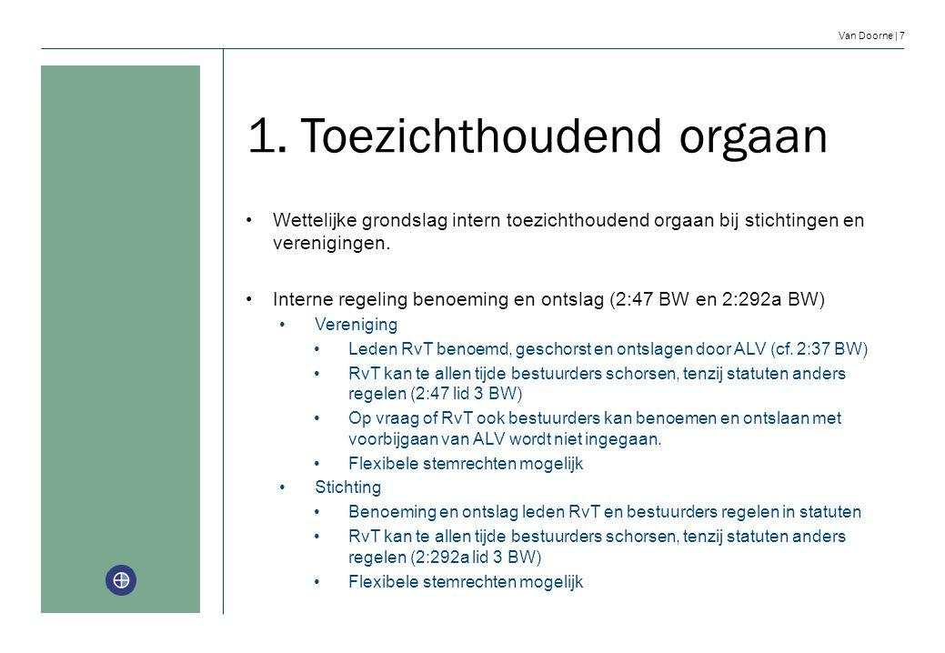 1. Toezichthoudend orgaan