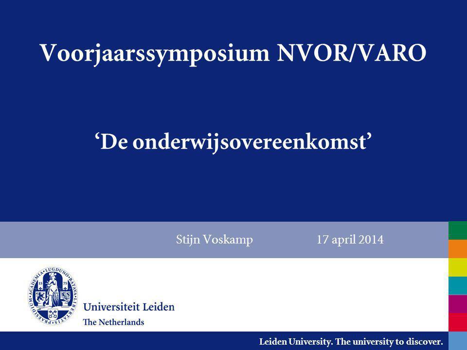 Voorjaarssymposium NVOR/VARO 'De onderwijsovereenkomst'