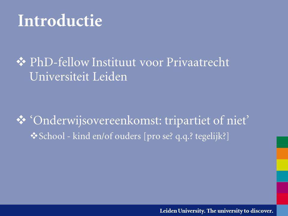 Introductie PhD-fellow Instituut voor Privaatrecht Universiteit Leiden