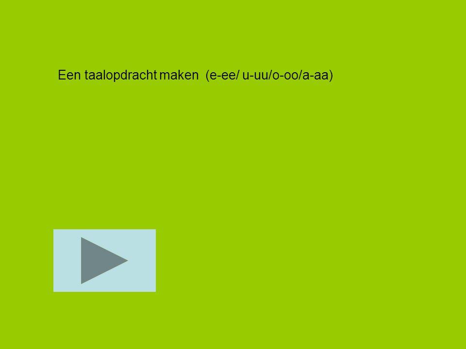 Een taalopdracht maken (e-ee/ u-uu/o-oo/a-aa)