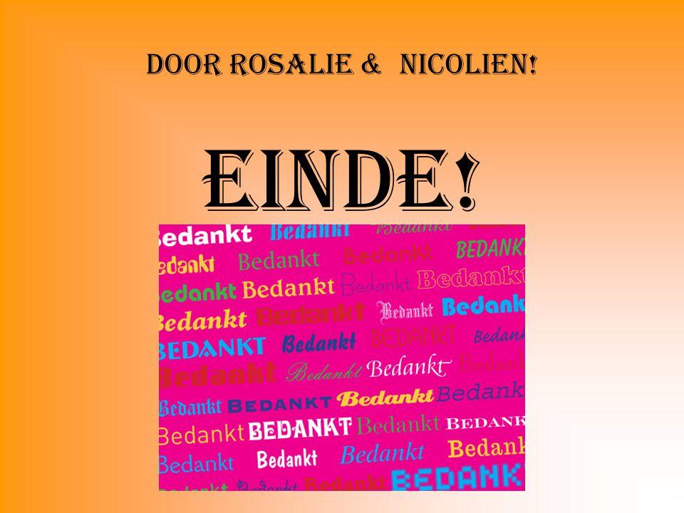 Door Rosalie & Nicolien!