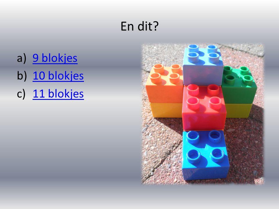 En dit 9 blokjes 10 blokjes 11 blokjes