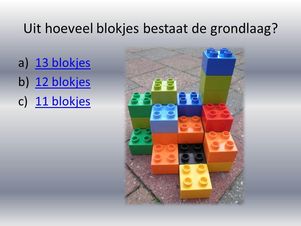 Uit hoeveel blokjes bestaat de grondlaag